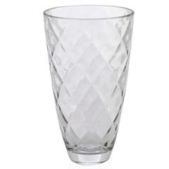 Vaso em Vidro Transparente Concerto 30cm - Casa Etna