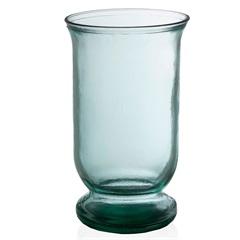 Vaso em Vidro Transparente Flat 25cm - Casa Etna