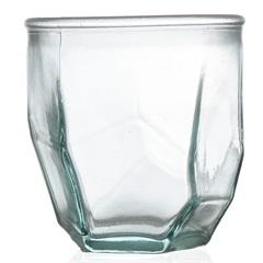 Vaso em Vidro Transparente Origami 300ml - Casa Etna