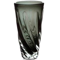 Vaso em Vidro Unique 25cm Cinza - Casa Etna