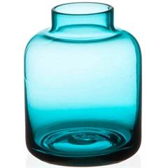 Vaso em Vidro Valencia Azul 8cm - Casa Etna