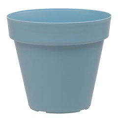 Vaso Redondo em Polipropileno Sampa 18x16cm Azul Vintage - Brilia
