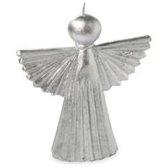 Vela Angel Metal Silver 20cm - Casa Etna