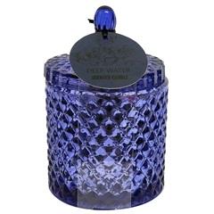 Vela Aromática em Vidro Bico de Jaca Metalizado com Tampa Água Profunda - Botânica Velas