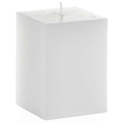 Vela Decorativa Tommy 10x7,3cm Branca - Casa Etna