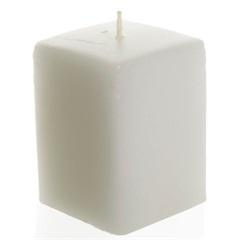 Vela Quadrada 10cm Branca - Casa Etna
