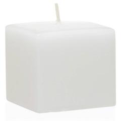 Vela Quadrada 7cm Branca - Casa Etna