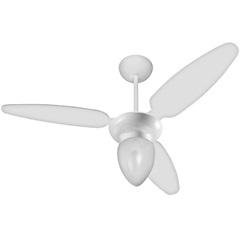 Ventilador de Teto com Luminária 130w 110v Ibiza com 3 Pás Branco
