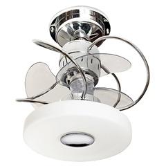 Ventilador de Teto com Luminária 149,5w Bivolt Mônaco com Controle Remoto Cromado  - Treviso