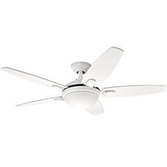 Ventilador de Teto com Luminária 67w 110v Contempo com 5 Pás Branco - Hunter Fan