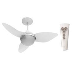 Ventilador de Teto com Luminária 95w 220v Smart com 3 Pás Branco - Aliseu