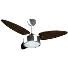 Ventilador de Teto com Lustre para 2 Lâmpadas Fharo 130w 110v Prata - Ventisol