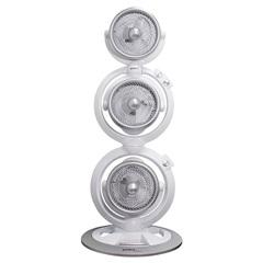 Ventilador de Torre 110v Maxximos Triplo Turbo com 3 Pás Branco E Prata - Spirit