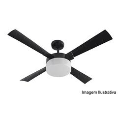 Ventilador Nauta 4 Pás com Controle Remoto Preto - EFYX