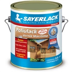 Verniz Brilhante Poliulack Transparente 3,6 Litros - Sayerlack