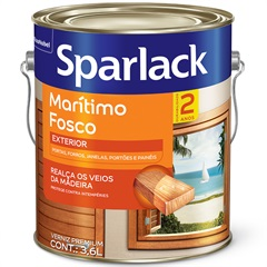 Verniz Premium Fosco Marítimo Natural 3,6 Litros - Sparlack