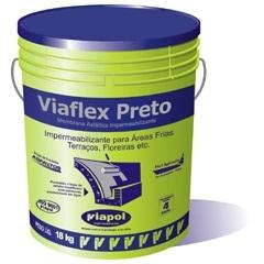 Viaflex Preto Balde 18kg - Viapol
