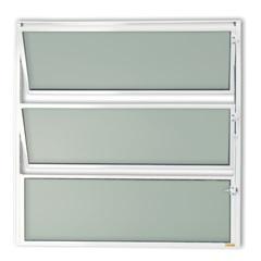 Vitrô Basculante com Vidro em Alumínio Master 40x40cm Branca - Brimak