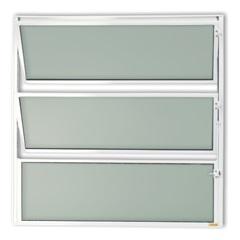 Vitrô Basculante com Vidro em Alumínio Master 50x50cm Branca - Brimak