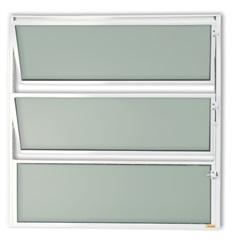 Vitrô Basculante com Vidro em Alumínio Master 60x40cm Branca - Brimak