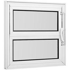 Vitrô Basculante de Alumínio 1 Seção Vidro Mini Boreal Branco Una 40x40cm - Casanova
