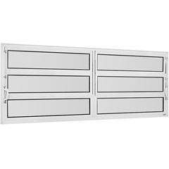 Vitrô Basculante de Alumínio 2 Seções Vidro Mini Boreal Branco Una 60x150cm - Casanova