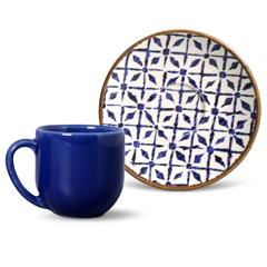 Xícara de Café com Pires em Cerâmica Coup Asteca - Porto Brasil Cerâmica