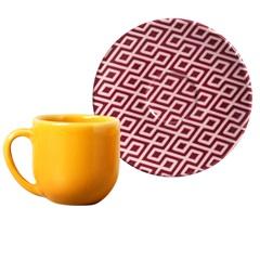 Xícara de Café com Pires em Cerâmica Coup Hidráulica - Porto Brasil Cerâmica