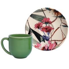Xícara de Café com Pires em Cerâmica Coup Vitae - Porto Brasil Cerâmica
