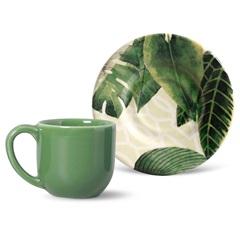 Xícara de Café com Pires em Cerâmica Mônaco Travattura - Porto Brasil Cerâmica