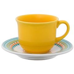 Xícara de Café com Pires Floreal Bilro 65ml - Oxford