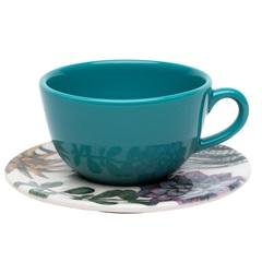 Xícara de Chá com Pires White Ny04-7600 - Oxford