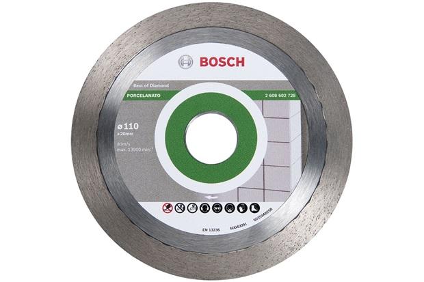 """""""Disco Diamantado para Porcelanato 4.1/2"""""""" Cromado"""" - Bosch"""