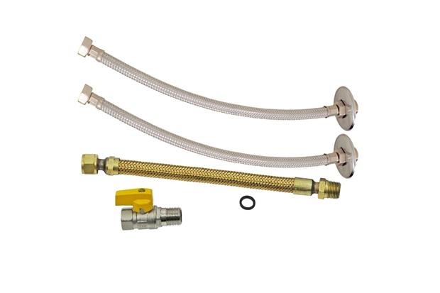 """""""Kit de Instalação para Aquecedor a Gás Dn15 1/2""""""""X40cm"""" - GTRES"""