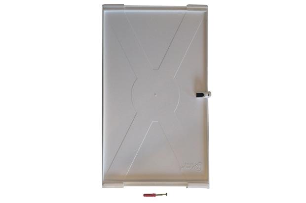 Prateleira em Plástico Pratplast 23x35cm Cinza - Zamar