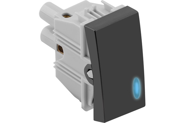 1 Interruptor Simples com Luz 10a 250v Simon 30 Grafite - Simon