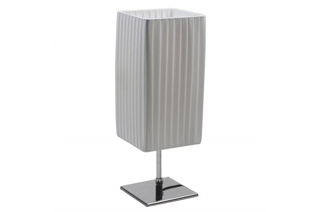 Abajur Quadrado Light 43cm Bivolt Branco - Casa Etna