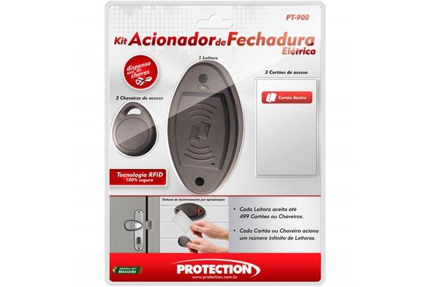 Acionador de Fechadura Elétrica Bivolt Comercial Preto - Protection