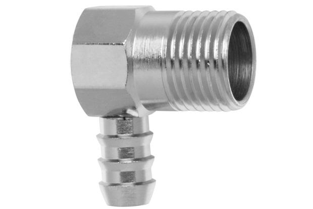 """Adaptador Vertical para Instalação de Gás Rosca Macho 1/2"""" Cromado - Blukit"""