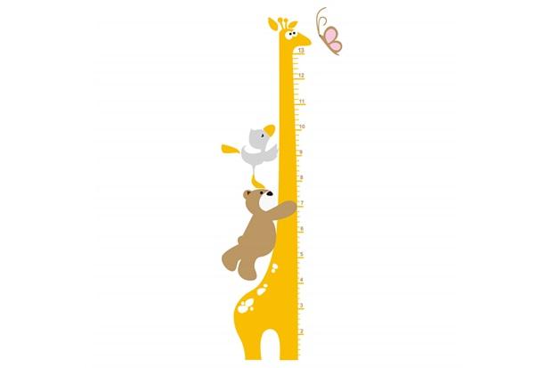 Adesivo Para Parede Girafa Metrica 50x70cm Com 1 Peca Amarelo
