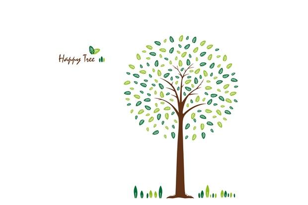 Adesivo para Parede Happy Tree 50x70cm com 1 Peça - Evolux