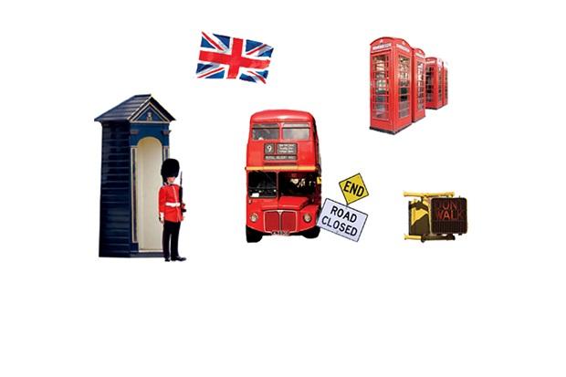 Adesivo para Parede Londres 50x70cm com 1 Peça - Evolux