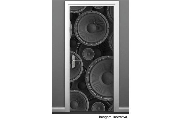 Adesivo para Porta com Estampa de Alto-Falante 85x210 Cm Ref.466  - R+ Comunicação