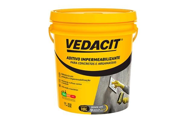 Aditivo Impermeabilizante para Concreto E Argamassa Vedacit Branco 18 Litros - Vedacit