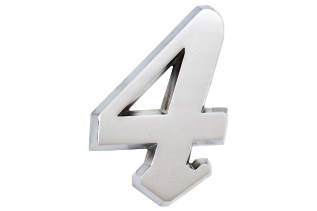Algarismo Elegance Número 4 em Alumínio Polido 17,5cm - Costa Navarro