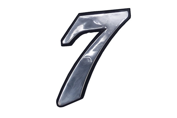 Algarismo Elegance Número 7 em Alumínio Polido 17,5cm - Costa Navarro