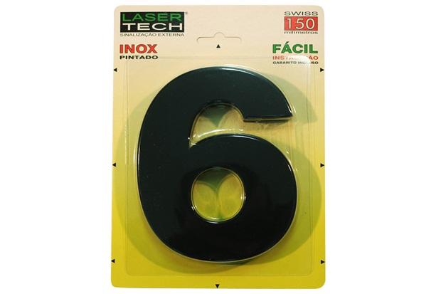 Algarismo em Inox Número 7  15cm - Display Show