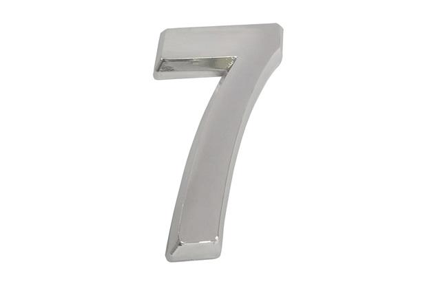 Algarismo em Plástico Número 7 Cromado - Fixtil