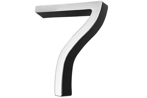 Algarismo em Plástico Número 7 Metalizado E Preto 4cm - Fixtil
