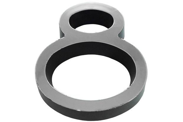Algarismo em Plástico Número 8 Metalizado E Preto 8cm - Fixtil